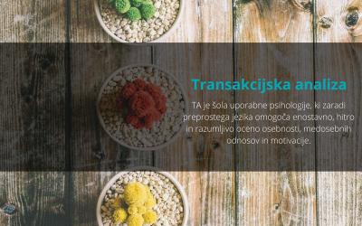 Transakcijska analiza = uporabna teorija osebnosti, motivacije in medosebnih odnosov